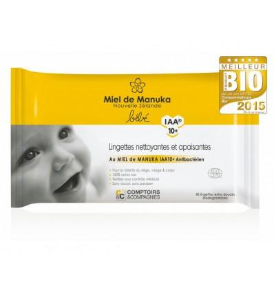 Lingettes bio pour bébé au manuka