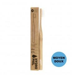 Brosse à dent durable en bambou - Nature - moyen doux - Hydrophil
