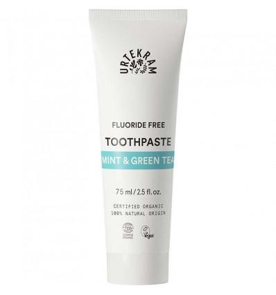 Mint & green tea toothpaste organic - Urtekram