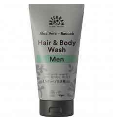 Men Aloe Vera Baobob Hair & Body wash bio - Urtekram