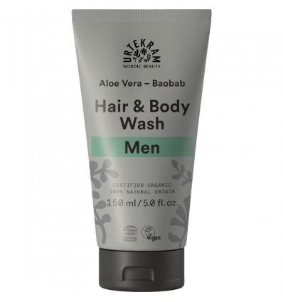 Men Aloe Vera Baobob Hair & Body wash organic - Urtekram