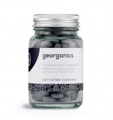 Pastille dentifrice - Charbon actif - sans fluor - Georganics