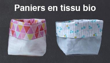 Paniers en tissu bio
