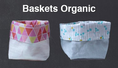 Basket organic cotton for storing beauty products